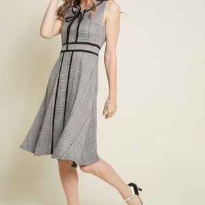 NWOT ModCloth A-Line Dress in Houndstooth Size 1X